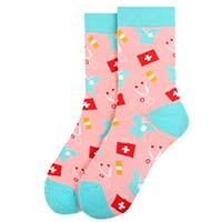 Women's Doctor / Nurse Pink Novelty Socks