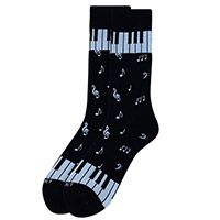 Piano Key Music Novelty Socks