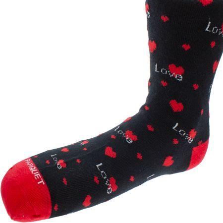 Love Heart Black Novelty Socks