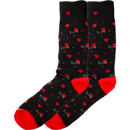 Men's Love Heart Novelty Socks