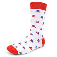 Republican Elephant Novelty Socks