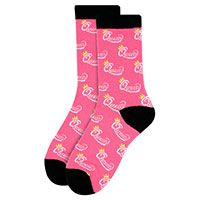 Women's Queen Pink Novelty Socks