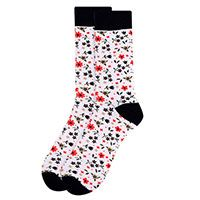 White Floral Wedding Novelty Socks