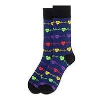Men's Heart Monitor Novelty Socks