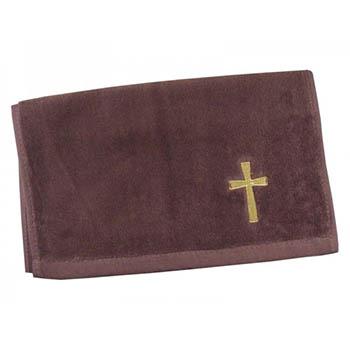 Burgundy Cross Clergy Cross Towel