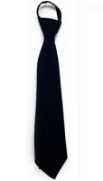 Boy's Hook-on Neck Tie Black or White