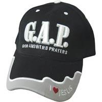 G.A.P. Baseball Cap Black & Grey