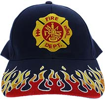Fire Department Flames Baseball Cap