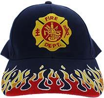 Fire Department Flames Baseball Cap