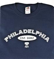 Philadelphia T Shirt Men's Blue
