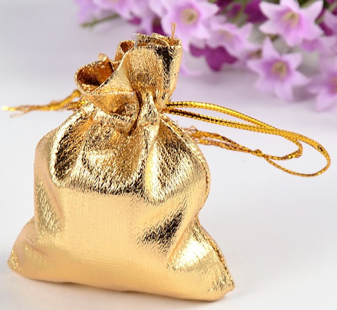 Gold Organza Gift Bags 12 Pack