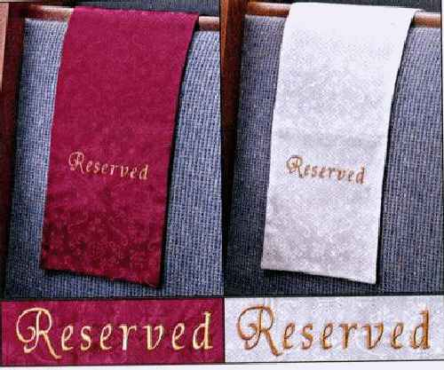 Embroidered Jacquard Cloth Reserved Sashes