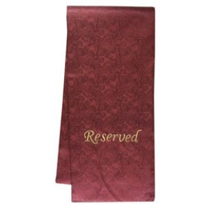 Pew Sashes Embroidered Cloth Reserved , fabric signs,