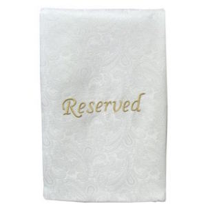 Emboidered Cloth Reserved Pew Sashes