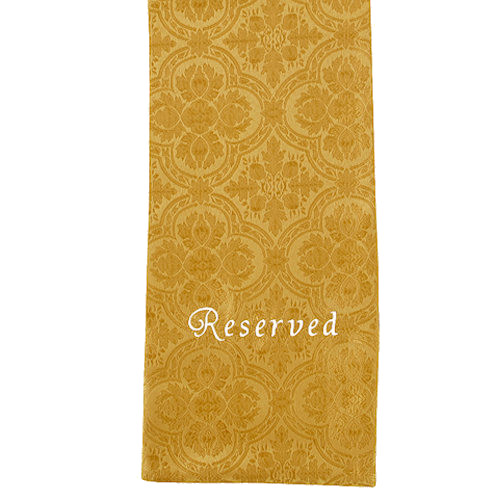 Embroidered Gold Cloth Reserved Sashes