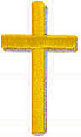Embroidered Gold Cross Patch