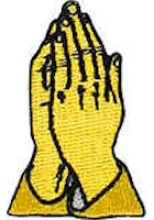 Embroidered Praying Hands Image