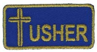 Usher Embroidered Patch Small Image