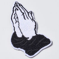 Embroidered Praying Hands Iron-on