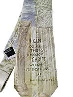 Philippians 4:13 Men's Silk Neck Tie