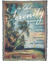 Serenity Prayer  Afghan Throw Religious Blanket