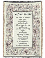 Safely Home Afghan Throw Comfort Blanket 68 Inches