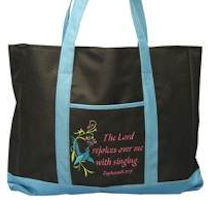 THE LORD REJOICES OVER ME WITH SINGING Tote Bag