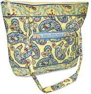 Woman's Quilted Handbag Tote - Daffodil Days