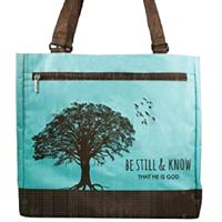 Black Serenity Canvas Tote Bags