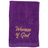 Woman of God Purple and Gold Towel
