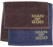 Embroidered Man of God Towel