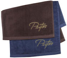 Pastors Embroidered Clergy Towels