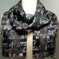 Black Choir Music Staff Scarves