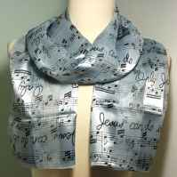 Jesus Choir Music Staff Scarf