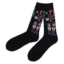 Jesus Novelty Socks with Crosses