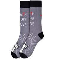 Faith Hope Love Novelty Socks