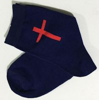 Cross Men's Woman's Socks Blue