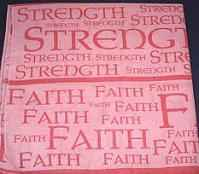 Strength and Faith Pink Bandana