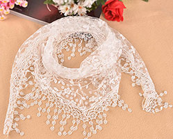 Women's Mantilla Triangle Veil Scarf in Colors