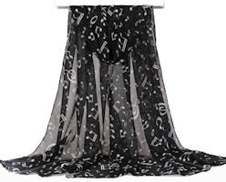 Musical Note Chiffon Neck Scarf