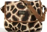 Giraffe Print Messenger Handbag