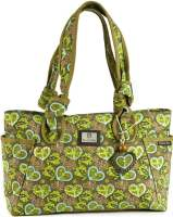 Knotted Heart of Love Green Handbag