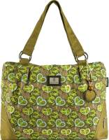 Heart of Love Green Overnight Handbag