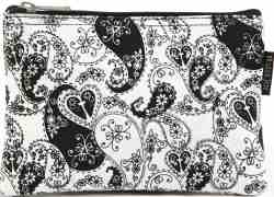 Heart of Love Black And White Makeup Bag