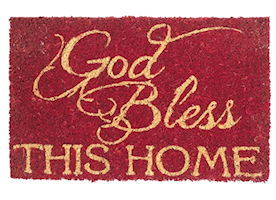 Doormat GOD BLESS This Home 10X16