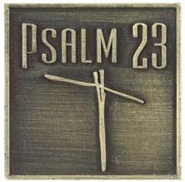 Psalm 23 Lord is My Shepard Coin Bronze