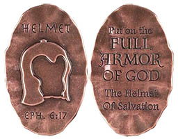 Helmet of Salvation Pocket Token or Stone
