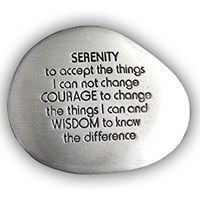 Serenity Prayer Soothing Pocket Stone