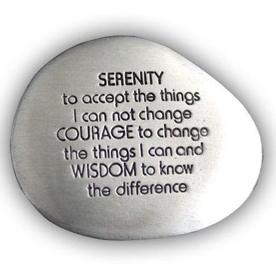 Serenity Prayer Soothing Pocket Stone