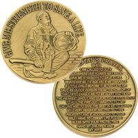 Fireman's Prayer Challange Coin Deluxe